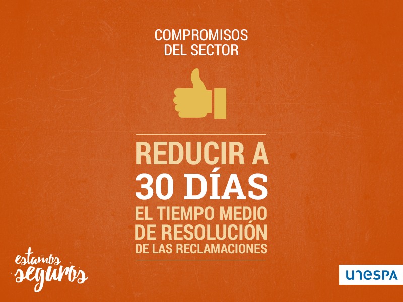 Compomisos del sector - Reducir a 30 días el tiempo medio de resolución de las reclamaciones