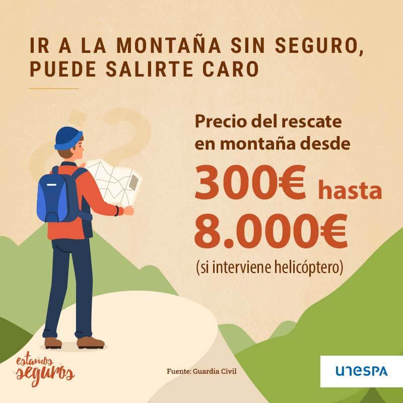 Coste de un rescate en montaña