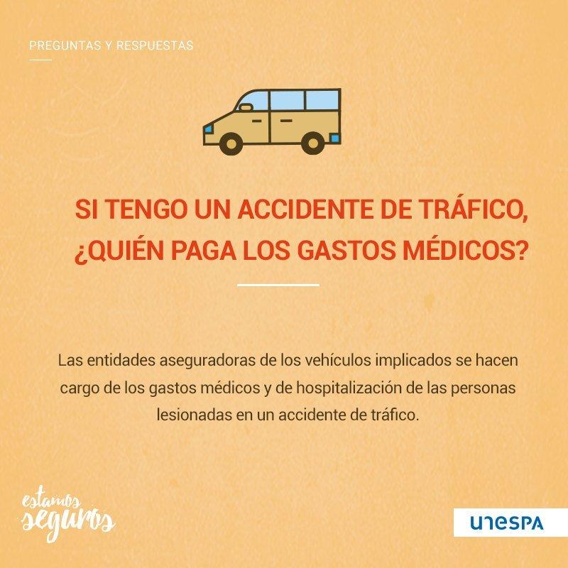 Si tengo un accidente de tráfico, ¿quién paga los gastos médicos?