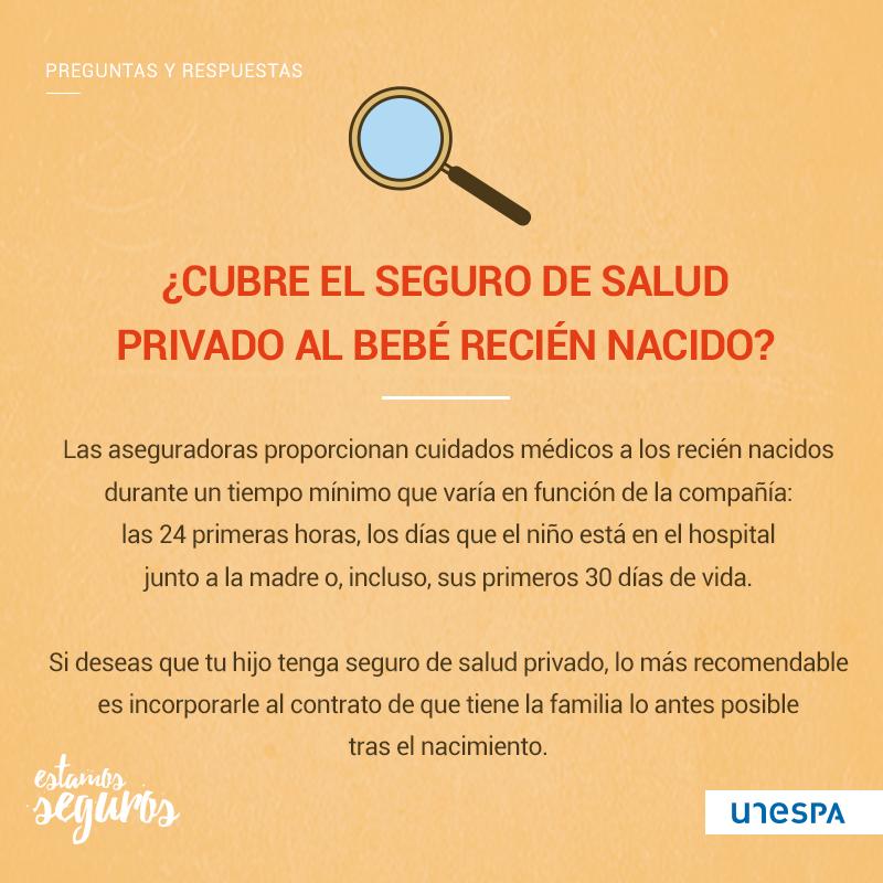 ¿Cubre el seguro al bebé recién nacido?