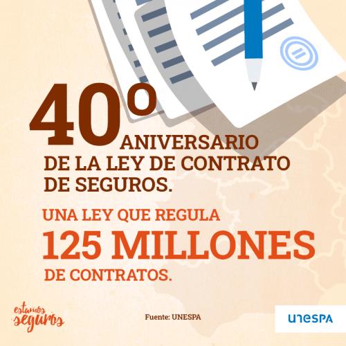 40 aniversario contrato seguros